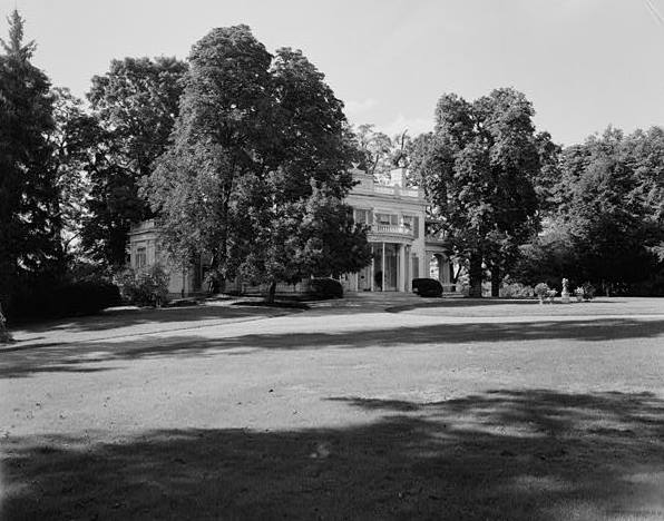 MANSION HOUSE, EAST FRONT, LOOKING NORTHWEST ACROSS GROUNDS