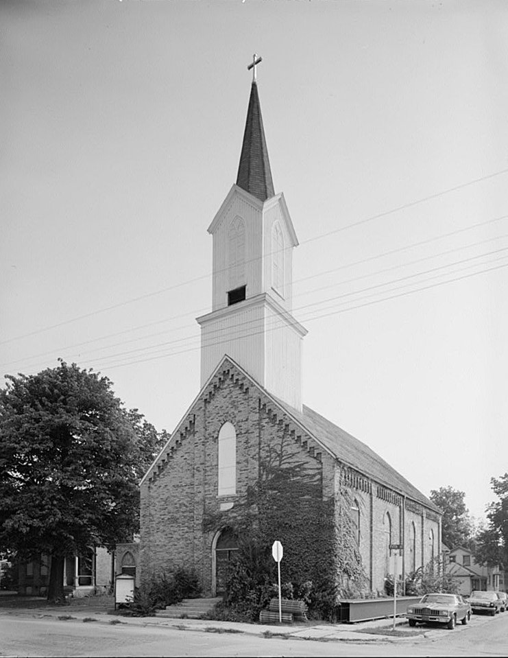 Wesley Methodist Church Watertown Wisconsin WEST FRONT AND SOUTH SIDE